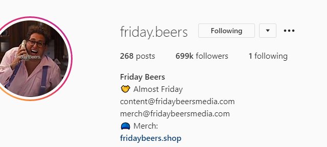 Friday Beers on Instagram Explained: Who is @friday.beers?